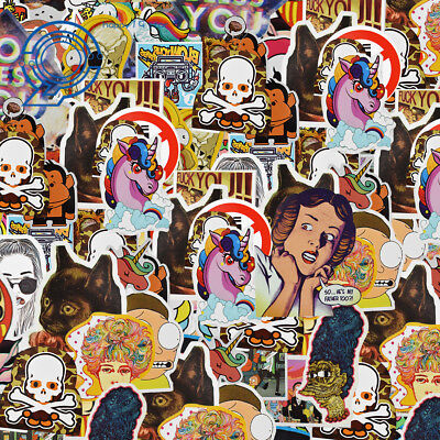1300 Random Skateboard Stickers Vinyl Laptop Luggage Decals Dope Sticker Lot Mix