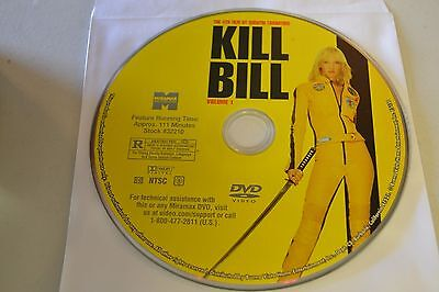 Kill Bill Vol. 1 (DVD, 2004)Disc Only Free Shipping 6-62