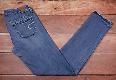 """Womens American Eagle Outfitters Skinny Jeans Size 6 Blue Denim 31"""" Inseam"""
