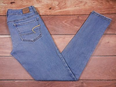American Eagle Outfitters JEGGING Jeans Size 6 Womens Blue Denim AEO