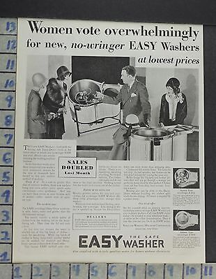 1929 Home Decor Laundry Room Easy Washer Agitator Clothing Vintage Ad Cp3