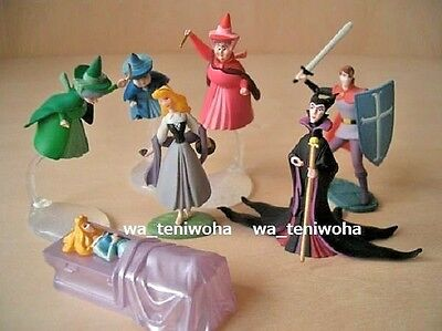 New Full Set -Sleeping Beauty- Tiny! 7 Figures incl Secret Disney Choco Egg Gift