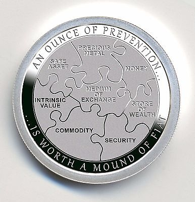 Ounce of Prevention - Security by Chautauqua Silver Works, 1oz .999 Fine Silver