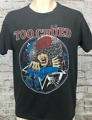 Vintage Motley Crue Concert T Shirt L Too Crued 80's Jailhouse Rock Heavy Metal