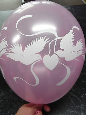 Love Doves Wedding Balloons Pearl Pink -  PKT 15 - Engagement Balloons - Wedding