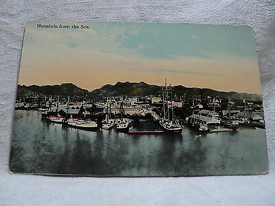 HONOLULU HI Hawaii view from the Sea early 1900's Postcard