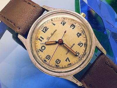 (5-DAY-FAST-AUCTIONS)1940s LA MAME MILITARY #77 (ESTATE SALE) VINTAGE MENS WATCH
