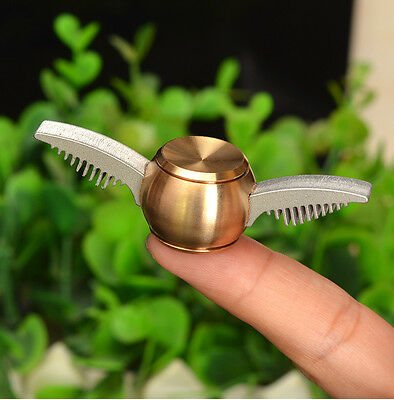Harry Potter Golden Snitch Finger Spinner Fidget Spinner Fly Wings ADHD Toy Gift
