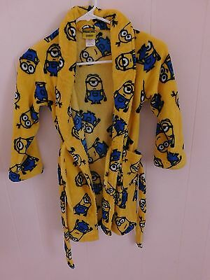 Child's bathrobe Minions size 8 girls or boys Despicable Me