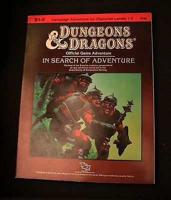 TSR D&D B1-9 In Search of Adventure Basic Dungeons & Dragons modules • Excellent