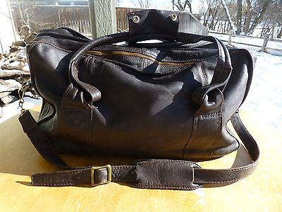 Supple Colombian Leather Mahogany Duffle Bag Quality Luggage CarryOn distressed
