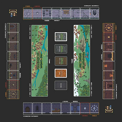 4-Player Boss Monster card game RARE playmat by Brotherwise Games • 4 player mat