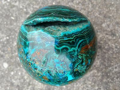 Chrysocholla Malachite and Azurite Sphere with  106mm diameter  Crystal Ball
