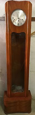 Antique Grandfather clock, light wood, with chimes