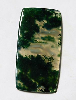 64.50 Cts Natural Green Moss Agate Cabochon Loose Gemstone 59X30X3