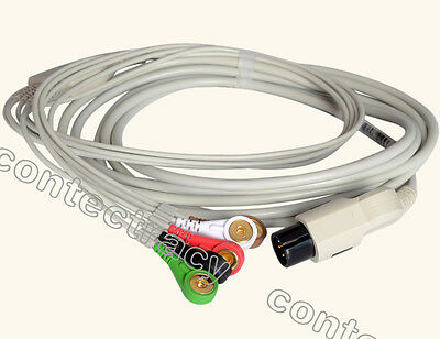 One-piece ECG Cable,5-lead A Model,Gilding clip type for CONTEC patient monitor