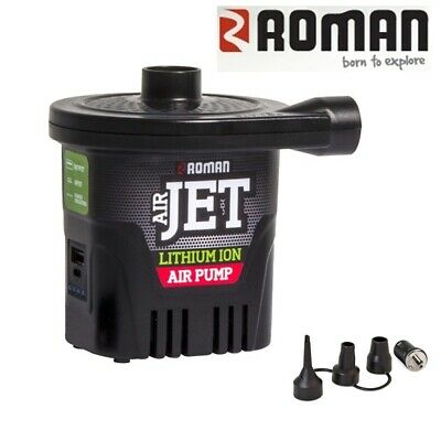 Roman Lithium Ion Rechargeable Airjet Air Pump & 4000mAh Power Bank 552056
