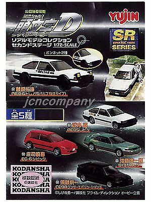 Initial D SR Series Real Model Collection 5 Mini Cars set 1:72 AE85 86 S-13 Evo