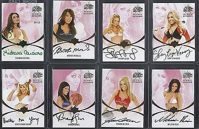 8 Bench Warmer Trading Cards 2012 National - Autographs, Serial Numbered...