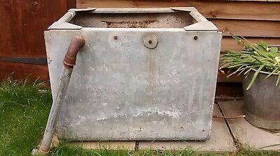 Small vintage/reclaimed galvnaised trough/water tank.