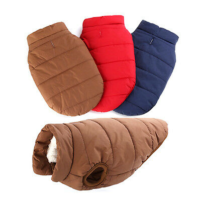 Pet Dog Cotton Coat Costume Apparel Hoodie Cat Puppy Warm Clothes Vest Jacket
