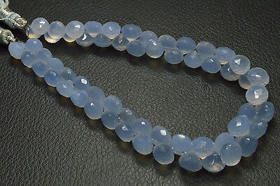 """PH-117 AAA+ Chalcedony Onion Gemstone Faceted Beads 7mm-8mm 120Ct 8.5"""" Strand"""