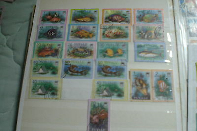 Tuvalu Stamps Used Fish Definitives Total Stamps 20