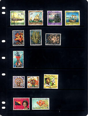 Papua New Guinea Stamp Page - 13 Stamps Used
