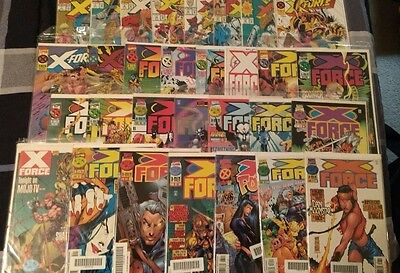 LOT OF 31 X-FORCE COMICS (including 1st issue)