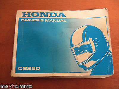 Honda Cb250 Two Fifty Owners Handbook Manual  *fast Postage*