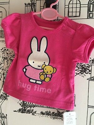 Baby Girls Miffy T-shirt Mothercare 0-3 Months BNWT