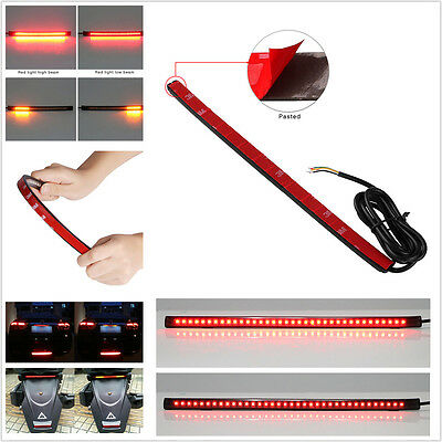36 LED Amber/Red Bendable Flexible Motorcycle Tail Brake Stop Flowing Light Lamp