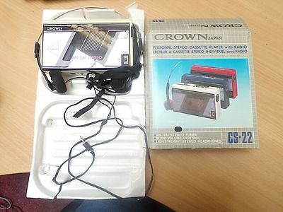 Personal Stereo Cassette Player Crown CS-22