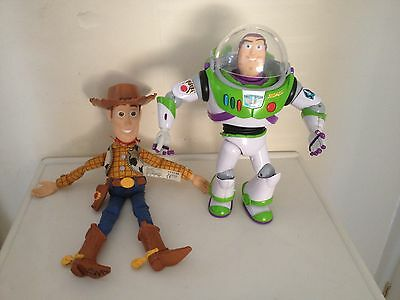INTERACTIVE BUZZ and WOODY - TOY STORY TALKING LARGE  ACTION FIGURES VGC