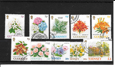 GUERNSEY 1993 Flower Definitives used