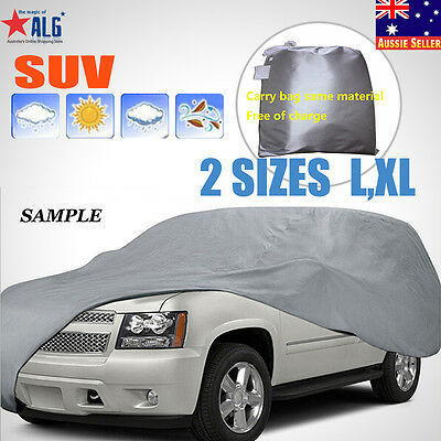 Large Waterproof Car Cover Universal SUV Crossover Off Road Storage PCSUV