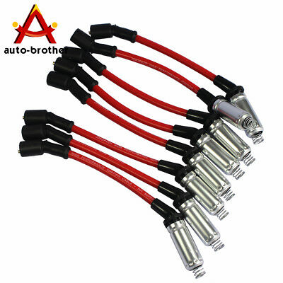 NEW 8PCS High Performance Spark Plug Ignition Wire For 2000-2009 CHEVY GMC V8