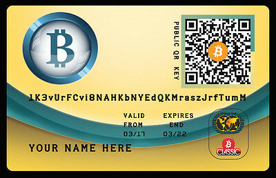 0.2 Bitcoins (BTC) Billetera Personalizada Direct To Your Wallet + PLASTIC CARD