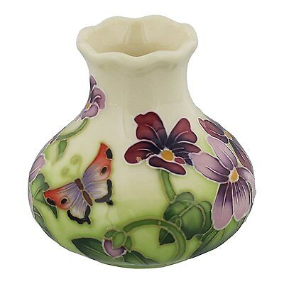 Old Tupton Ware Art Deco Primrose and Butterfly 3 inch Vase  TW7983