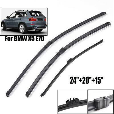 Fit For BMW X5 E70 2007-2011 Windshield Wiper Blades Set Rear Front Window