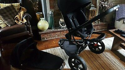 Black Quinny Moodd Pram/Pushchair with accessories