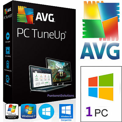 AVG PC TuneUP 2017 OTTIMIZZA IL PC / 1PC LICENZA ORIGINALE E GARANTITA