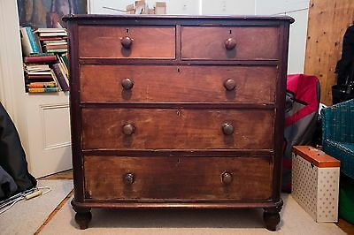 Chest of drawers Victorian Mahogany