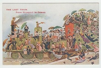 Cynicus - Last Train form Newport to Cowes postcard Isle of Wight