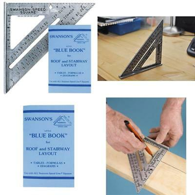 Swanson Speed Square Layout Tool S0101 7-inch with Blue Book *5 tools in 1*
