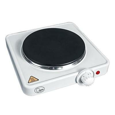 Quest Electric Hot Plate / Boiling Ring / Portable Hob - White Single 35240