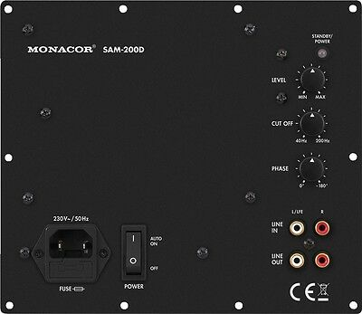 Aktives digitales Subwoofer-Modul Monacor SAM-200D Pmax: 280Watt