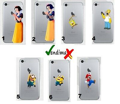 TPU Gel Silicona Carcasa Funda Apple iPhone 5 6 7 Plus + BLANCANIEVES MINIONS