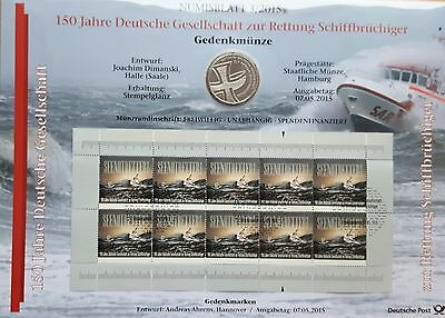 Germany: Numisblatt 3/2015, Rescue Castaway With Commemorative Coin