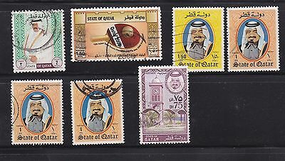 small group of Quatar stamps